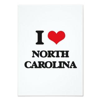 "I Love North Carolina 5"" X 7"" Invitation Card"