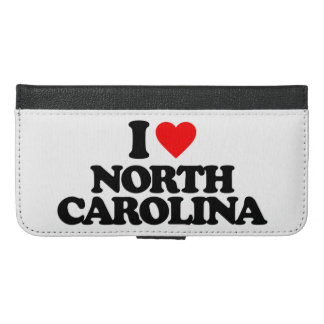 I LOVE NORTH CAROLINA iPhone 6/6S PLUS WALLET CASE