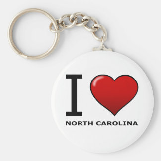 I LOVE NORTH CAROLINA KEY RING