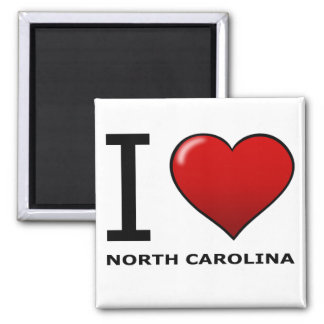 I LOVE NORTH CAROLINA MAGNET