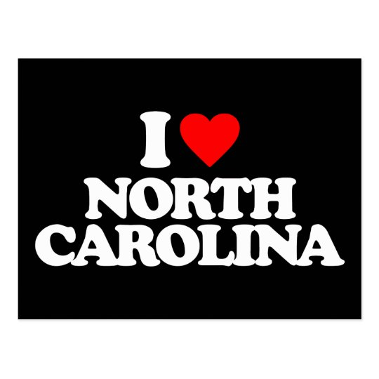 I LOVE NORTH CAROLINA POSTCARD