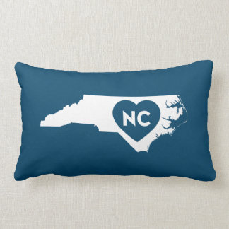 I Love North Carolina State Lumbar Pillow