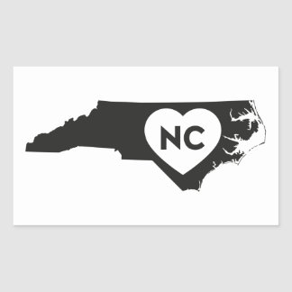 I Love North Carolina State Stickers