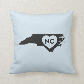 I Love North Carolina State Throw Pillow