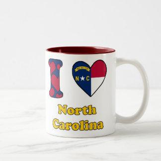 I love North Carolina Two-Tone Coffee Mug