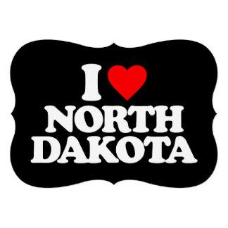 I LOVE NORTH DAKOTA CUSTOM INVITATIONS
