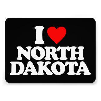 I LOVE NORTH DAKOTA INVITES