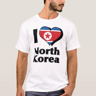 I Love North Korea Flag Shirt