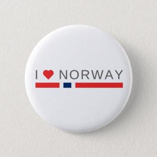 I love Norway 6 Cm Round Badge