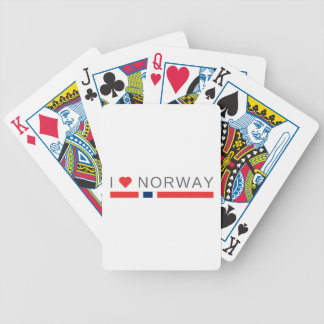 I love Norway Bicycle Playing Cards