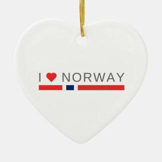 I love Norway Ceramic Ornament