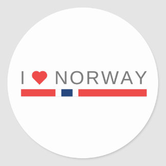 I love Norway Classic Round Sticker