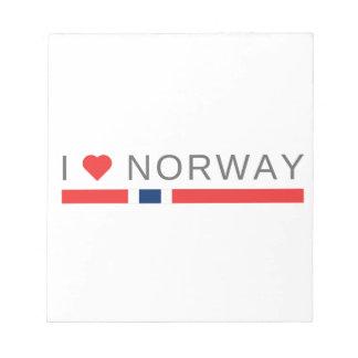 I love Norway Notepad