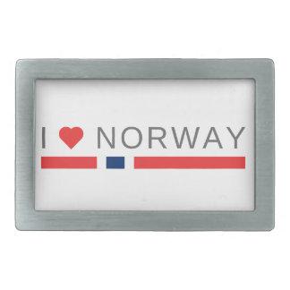 I love Norway Rectangular Belt Buckle