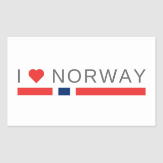 I love Norway Rectangular Sticker