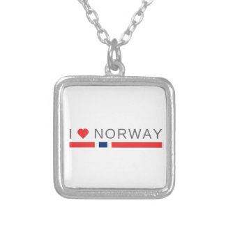 I love Norway Silver Plated Necklace