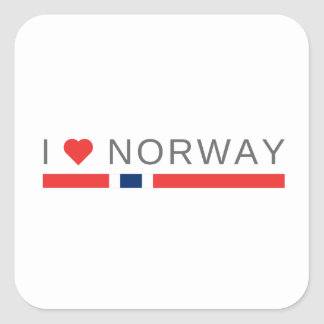 I love Norway Square Sticker