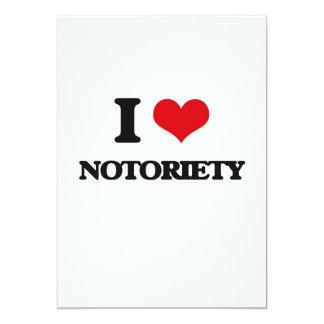 I Love Notoriety 13 Cm X 18 Cm Invitation Card