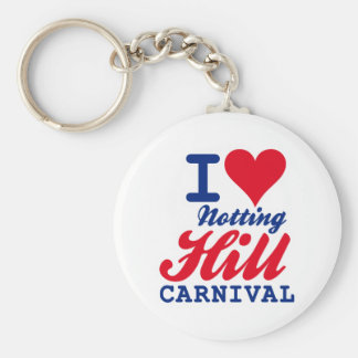I LOVE NOTTING HILL CARNIVAL BASIC ROUND BUTTON KEY RING