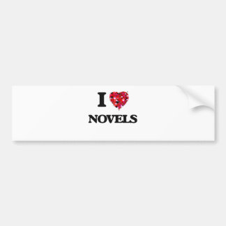 I Love Novels Bumper Sticker