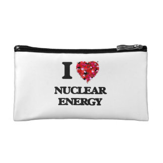 I Love Nuclear Energy Cosmetic Bag