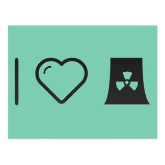 I Love Nuclear Energy Postcard