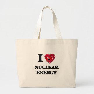 I Love Nuclear Energy Jumbo Tote Bag