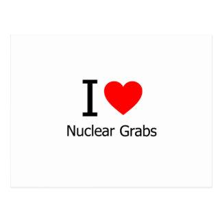 I Love Nuclear Grabs Postcard