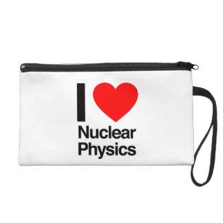 i love nuclear physics wristlet clutch