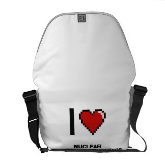 I love Nuclear Power Plant Workers Courier Bags