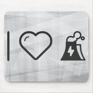 I Love Nuclear Powers Mouse Pad