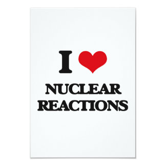 "I Love Nuclear Reactions 3.5"" X 5"" Invitation Card"