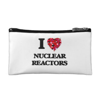 I Love Nuclear Reactors Cosmetic Bags