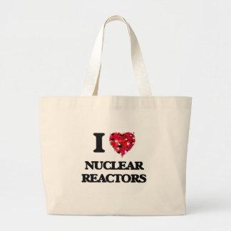 I Love Nuclear Reactors Jumbo Tote Bag