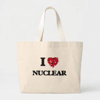 I Love Nuclear Jumbo Tote Bag