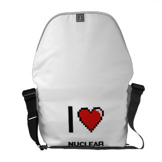 I love Nuclear Waste Engineers Courier Bags