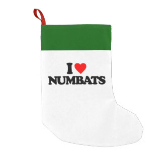 I LOVE NUMBATS SMALL CHRISTMAS STOCKING