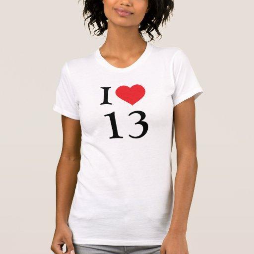 I love number 13 tshirts