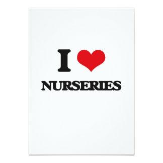 """I Love Nurseries 5"""" X 7"""" Invitation Card"""
