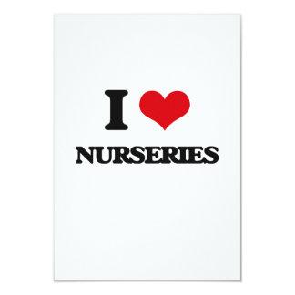 """I Love Nurseries 3.5"""" X 5"""" Invitation Card"""