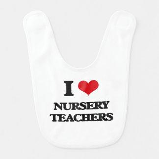 I love Nursery Teachers Bib