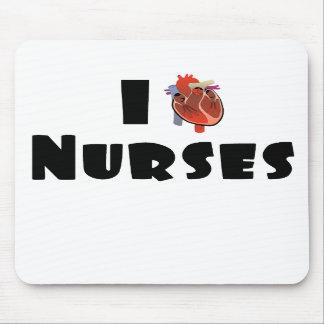 I love nurses mouse pad