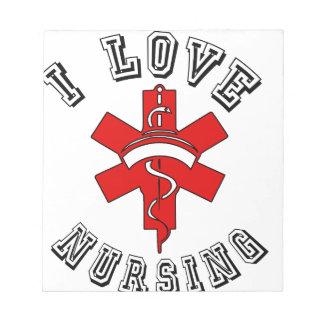 i love nursing health notepad