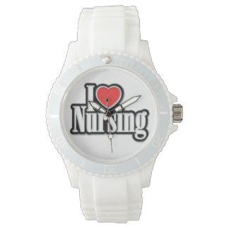"""I Love Nursing"" Sporty Silicon Watch"