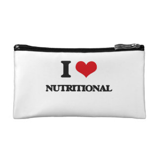 I Love Nutritional Cosmetic Bags