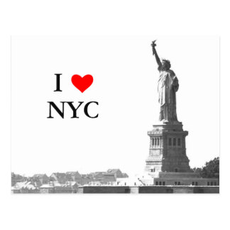 I Love NYC Statue of Liberty Vintage Custom Postcard