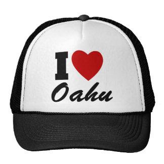 I Love Oahu Mesh Hats