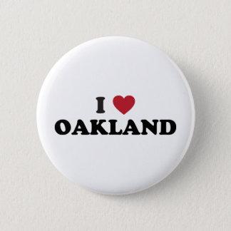 I Love Oakland California 6 Cm Round Badge