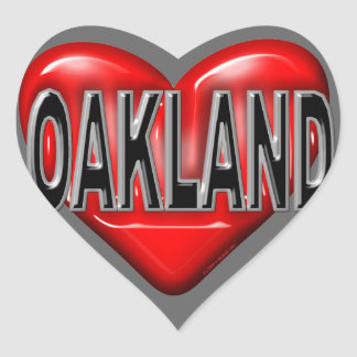I Love Oakland Heart Sticker