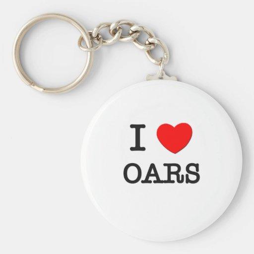 I Love Oars Key Chain